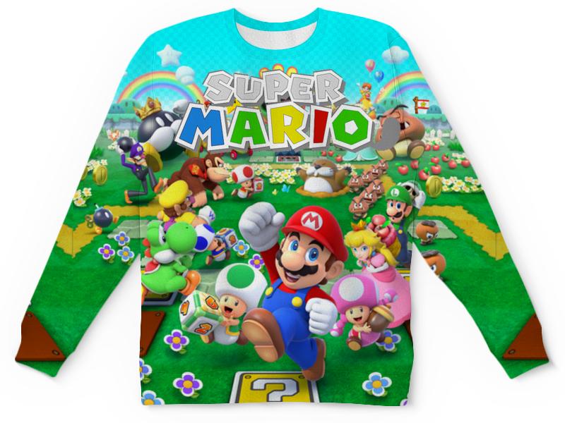 Детский свитшот унисекс Printio Super mario. видеоигры