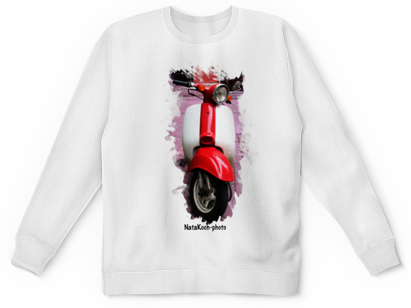 Детский свитшот унисекс Printio Скутер скутер