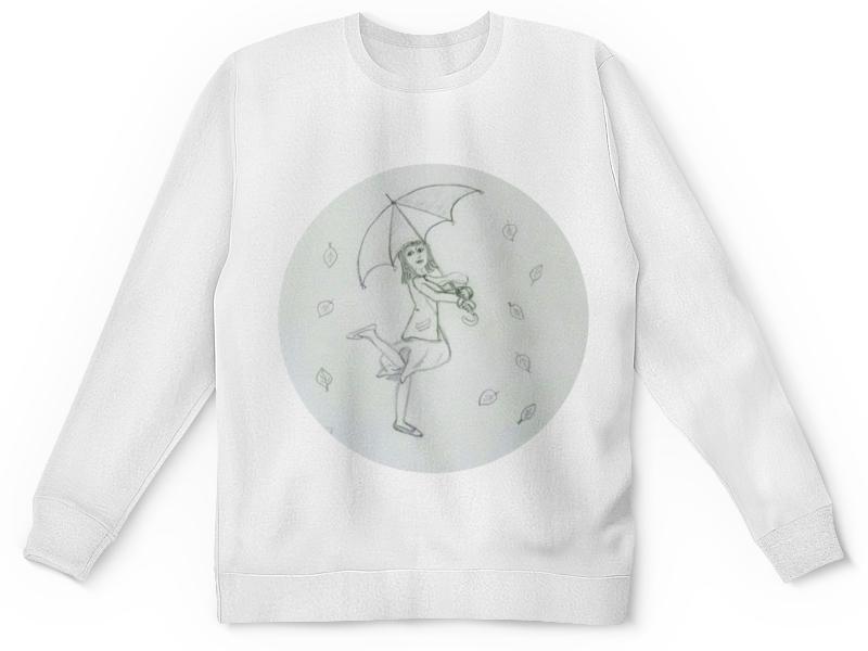 Детский свитшот унисекс Printio Осень и дождик