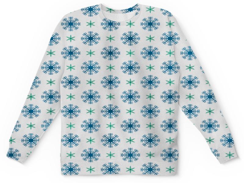 Детский свитшот унисекс Printio Падающие снежинки детский