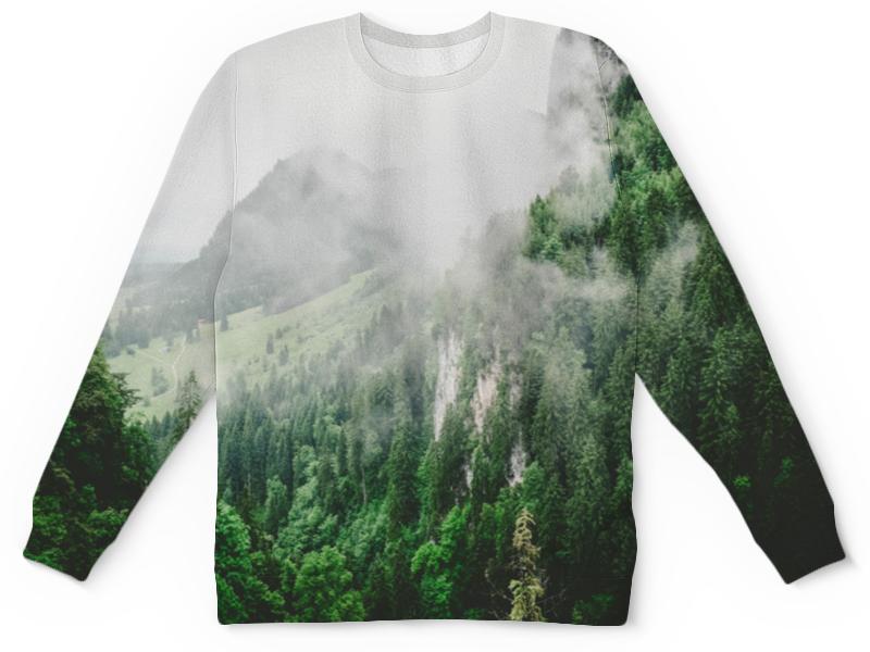 Детский свитшот унисекс Printio Туманные горы платье летнее printio туманные горы