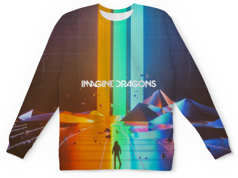 Детский свитшот унисекс Printio Imagine dragons футболка wearcraft premium slim fit printio whisky cola