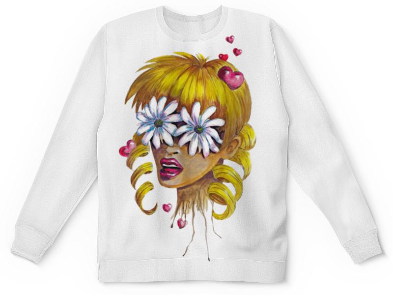 Детский свитшот унисекс Printio Без ума от цветов