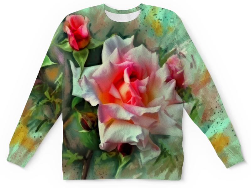 Детский свитшот унисекс Printio Цветущие розы цена