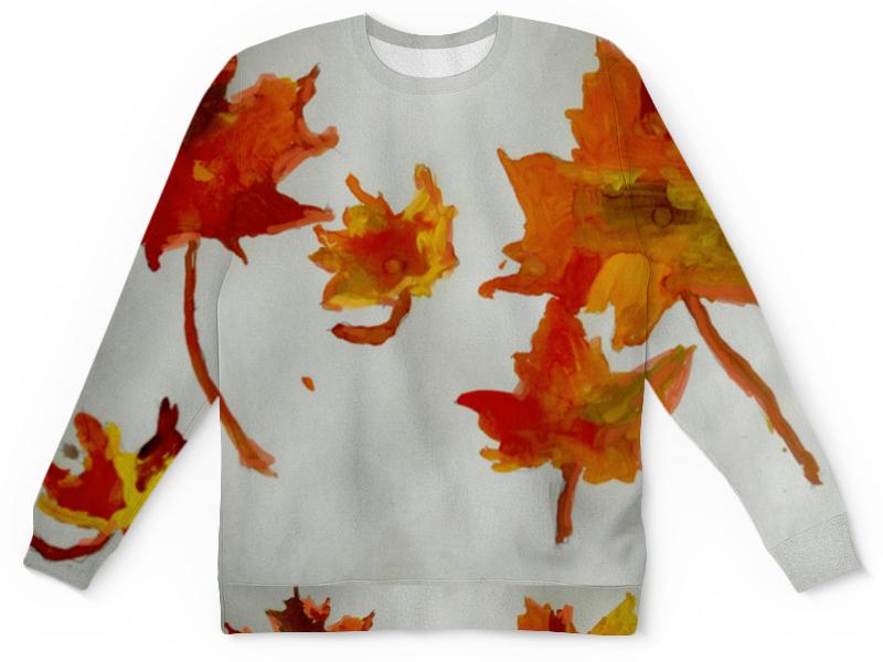 Детский свитшот унисекс Printio Осенние листья бусы из янтаря осенние краски