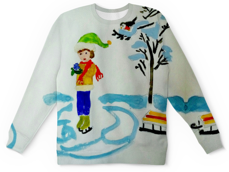 Детский свитшот унисекс Printio Зимние забавы