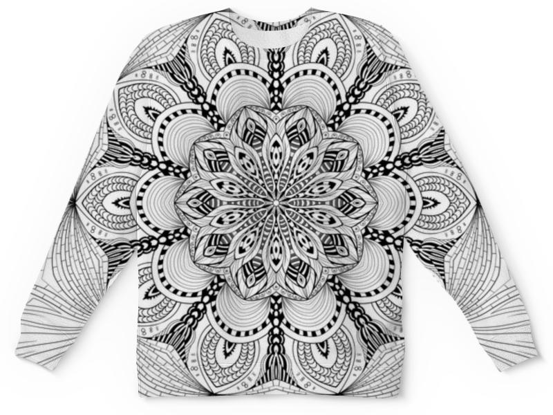 Детский свитшот унисекс Printio Мандала цветок