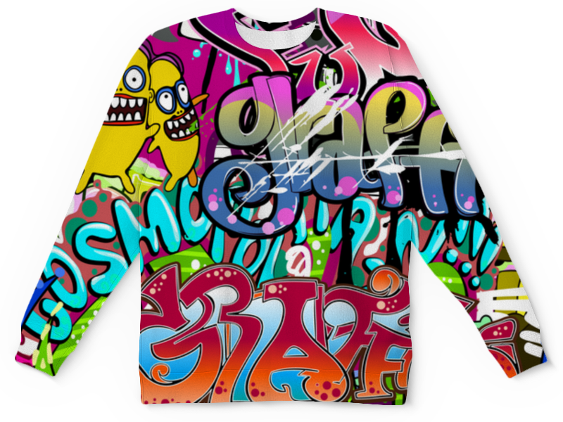 Детский свитшот унисекс Printio Граффити цена и фото