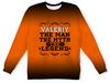 "Детский свитшот унисекс ""Валерий the Legend"" - man, legend, myth, валера, валерий"