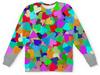 """Детский свитшот унисекс """"Разноцветные сердца для любимого ребенка"""" - сердце, любовь, женщина, орнамент, символ"""