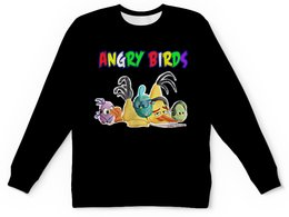 "Детский свитшот унисекс ""Энгри Бердз"" - птицы, птички, мульт, angry birds, энгри бёрдз"