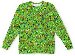 "Детский свитшот унисекс ""Angry Birds"" - зеленый, свиньи, мульт, angry birds, энгри бёрдз"