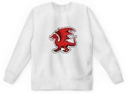 """Детский свитшот унисекс """"дракон"""" - крылья, животные, дракон, dragon, динозавр"""