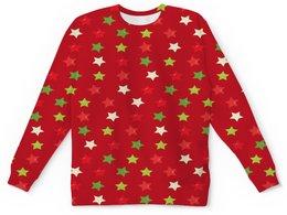 """Детский свитшот унисекс """"Звезды"""" - новый год, узор, звезда, звезды, конфетти"""