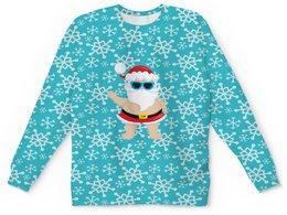 """Детский свитшот унисекс """"Санта"""" - новый год, зима, дед мороз, санта, шапка"""