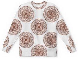 """Детский свитшот унисекс """"Цветочный орнамент в стиле мехенди"""" - орнамент, мандала, этнический, индийский, мехенди"""