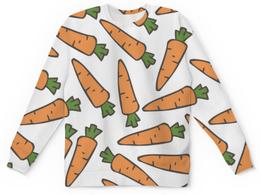 """Детский свитшот унисекс """"Морковки"""" - морковь, овощи, лето, здоровье, веган"""