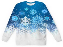 "Детский свитшот унисекс ""Узор зимний"" - зима, снег, снежинки, новый год, узор"