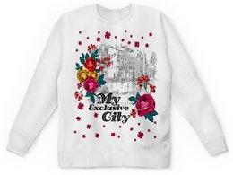 """Детский свитшот унисекс """"Город"""" - цветы, город"""