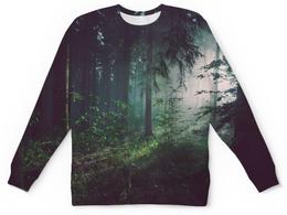 """Детский свитшот унисекс """"Природа леса"""" - лес, деревья, природа, пейзаж, трава"""