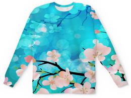 """Детский свитшот унисекс """"Цветущее дерево"""" - весна, цветы, цветочки, природа, деревья"""