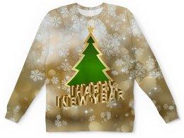 """Детский свитшот унисекс """"Новый год"""" - праздник, новый год, зима, снежинки, елка"""