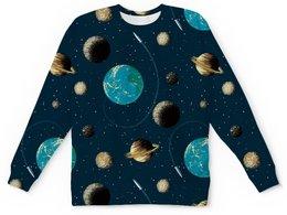 """Детский свитшот унисекс """"Космос """" - земля, луна, вселенная, планеты, юпитер"""