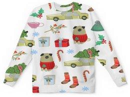"""Детский свитшот унисекс """"Новый год"""" - снежинки, собаки, елка, рождество, новый год"""