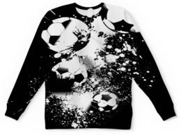 """Детский свитшот унисекс """"Мячики"""" - футбол, спорт, мячи, огонь, игры"""