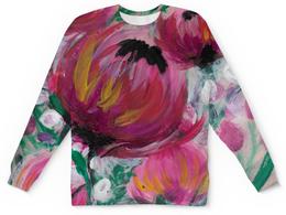 """Детский свитшот унисекс """"Полевые цветы"""" - лето, цветы, весна, розовый, подарок"""