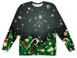 """Детский свитшот унисекс """"Падающий снег"""" - игрушки, елка, новый год, подарки, снежинки"""