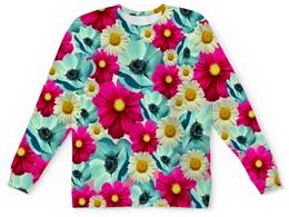 """Детский свитшот унисекс """"Цветочный сад"""" - цветы, весна, сад, цветные, цветочки"""