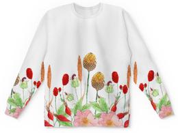 """Детский свитшот унисекс """"осенний букет"""" - цветы, осень"""