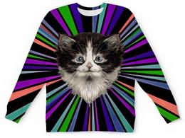 """Детский свитшот унисекс """"Морда кота"""" - кошка, животные, cat, коты, котики"""