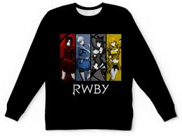 "Детский свитшот унисекс ""RWBY "" - аниме, rwby, red white black yellow, красный белый черный желтый, ruby weiss blake yang"