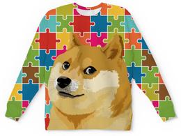 "Детский свитшот унисекс ""DOGE WOW"" - мем, dog, пес, собака, doge"
