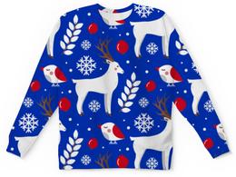 """Детский свитшот унисекс """"Олени"""" - новый год, олень, снежинки"""