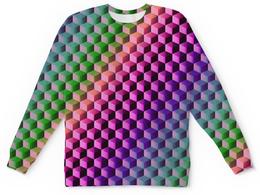 "Детский свитшот унисекс ""Градиент"" - графика, краски, геометрия, градиент, шестиугольник"