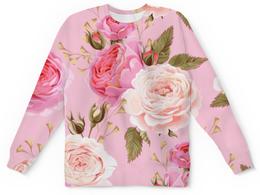 """Детский свитшот унисекс """"Цветы"""" - цветы, розы"""