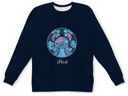 """Детский свитшот унисекс """"Lilo & Stich (Stich)"""" - мультфильм, лило и стич, инопланетянин, пришелец, дисней"""