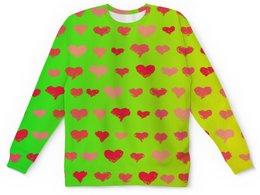"""Детский свитшот унисекс """"Сердечки"""" - сердце, любовь, узор, сердечки, день влюбленных"""