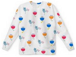 """Детский свитшот унисекс """"Тюльпаны"""" - лето, цветы, весна, природа, тюльпаны"""