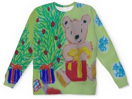 """Детский свитшот унисекс """"Новогодний мишка"""" - новый год, мишка, подарки, елка"""