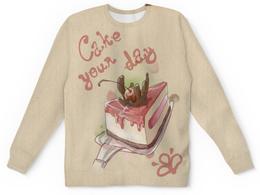 "Детский свитшот унисекс ""Cake your day"" - сладости, вишня, шоколад, тортик"