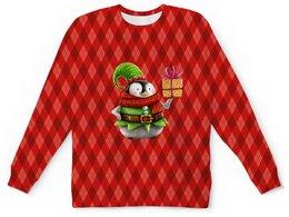 """Детский свитшот унисекс """"пингвин"""" - новый год, зима, птицы, подарки, пингвин"""
