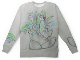 """Детский свитшот унисекс """"Подснежники"""" - цветы, весна, божья коровка, подснежники"""