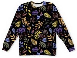 """Детский свитшот унисекс """"Яркий абстрактный цветочный узор"""" - рисунок, графика, абстракция, яркий, от руки"""