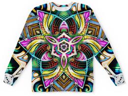 """Детский свитшот унисекс """"Mandala HD 4"""" - узор, ретро, классика, этно, симметрия"""