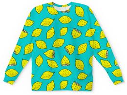 """Детский свитшот унисекс """"ЛИМОНЫ"""" - фрукты, дизайн, иллюстрация, лимон"""