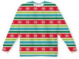 """Детский свитшот унисекс """"Снежинки"""" - новый год, снег, полосы, снежинки, линии"""